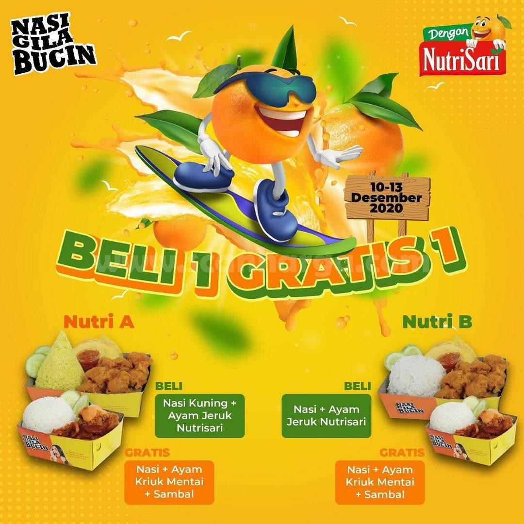 Promo Nasi Gila Bucin - Beli 1 Gratis 1 Nasi Ayam Nutrisari