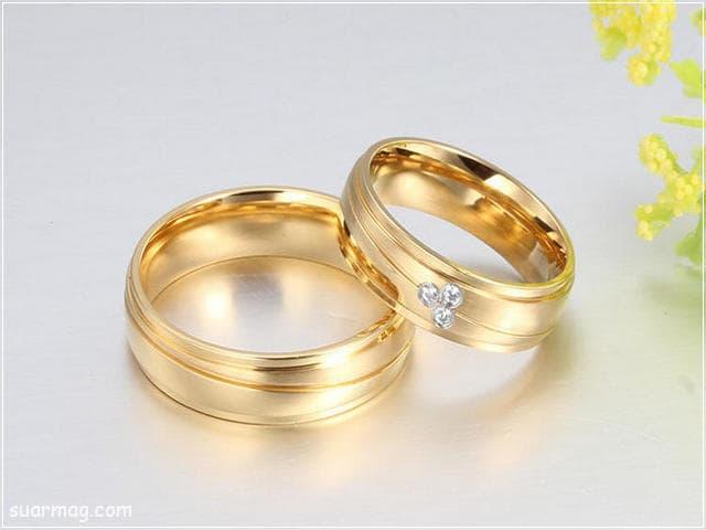 اشكال محابس ذهب 14   Gold Engagement Rings Forms 14