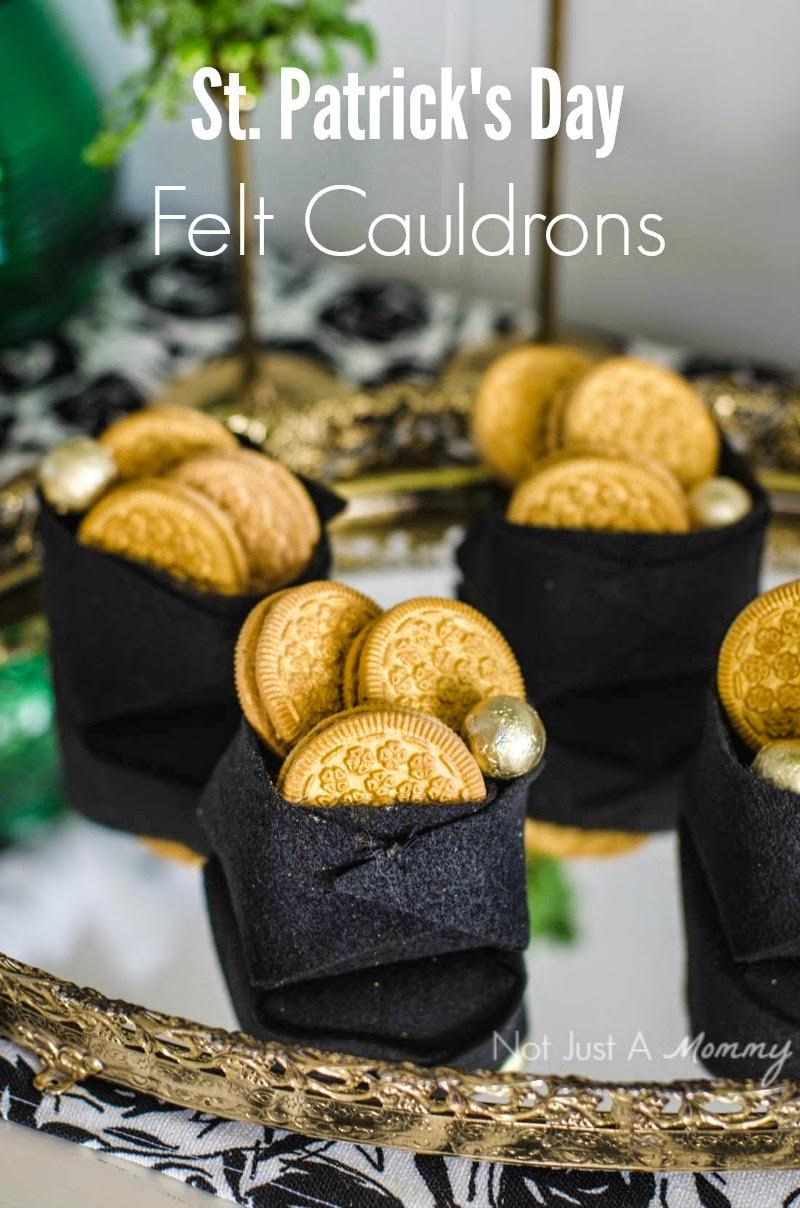 St. Patrick's Day Blogger Party - Felt Cauldrons