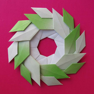 Origami con colori sfumati, Ghirlanda di foglie - Garland of Leaves by Francesco Guarnieri