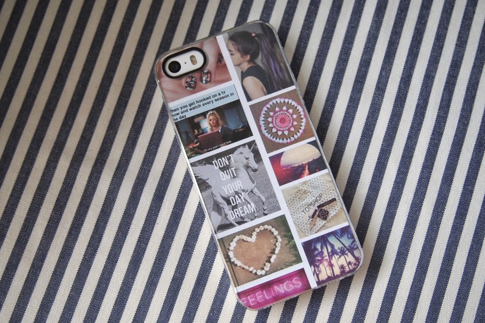 Cat Eyes And Glitter Bombs Diy Collage Phone Case