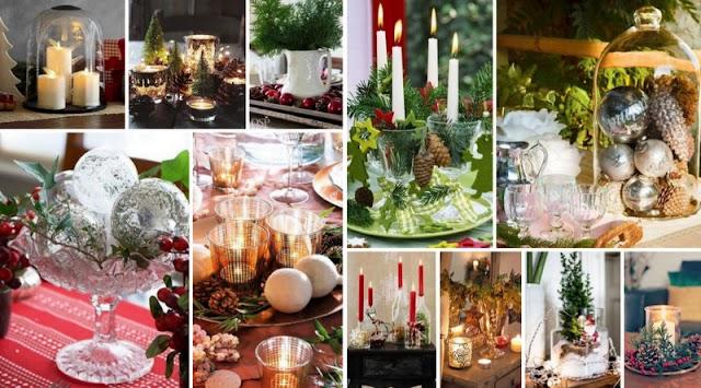 Εύκολες Xριστουγεννιάτικες Συνθέσεις με Γυάλινα αντικείμενα