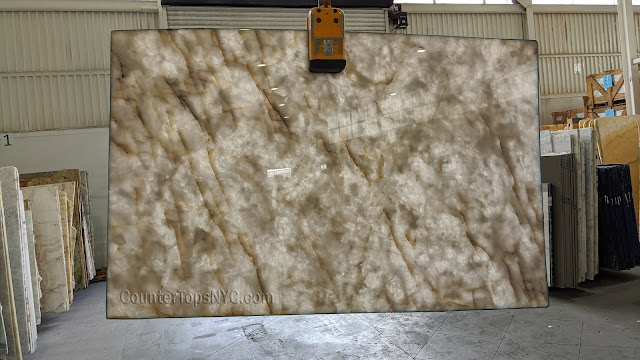 Cristallo White Quartzite Slabs High Quality