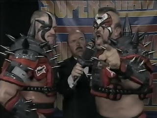 WCW SUPERBRAWL VI 1996 - The Road Warriors challenged Sting & Lex Luger for the Tag Team Titles