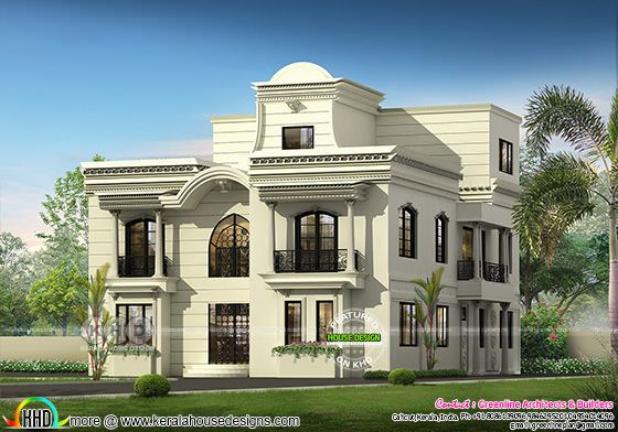 Luxury 5 bedroom Colonial house plan