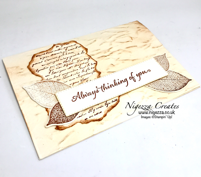 Nigezza Creates with Stampin' Up! Rooted In Nature, Very Versailles & Old World Paper Embossing Folder