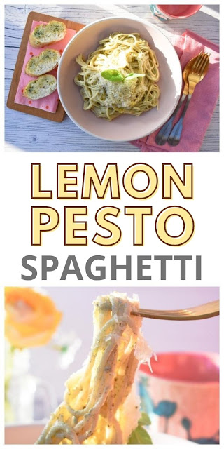 Creamy Lemon Basil Spaghetti. A simple recipe for creamy lemon basil spaghetti sauce that can be made while the spaghetti cooks. Suitable for vegetarians or vegans.