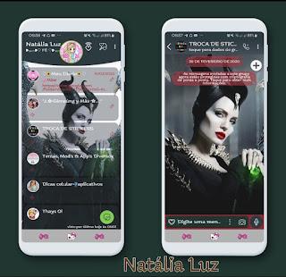 Malevola Girl Theme For YOWhatsApp & Fouad WhatsApp By Natalia Luz