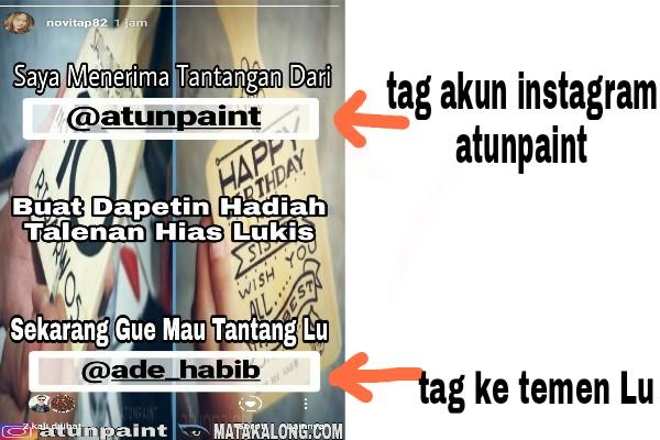 Give Away Talenan Hias Lukis Dari AtunPaint