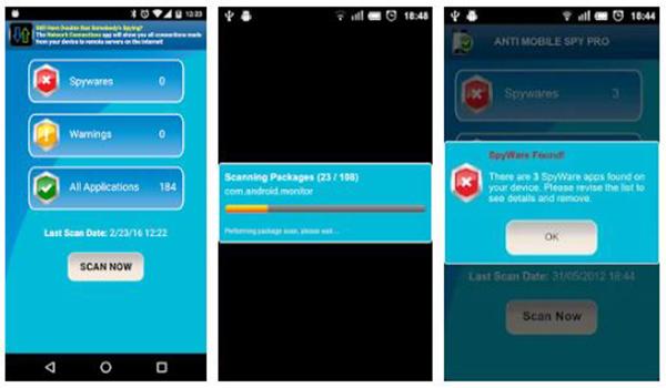 تطبيق Anti Spy Mobile للبحث عن تطبيقات التجسس بالنيابة عنك - بحرية درويد