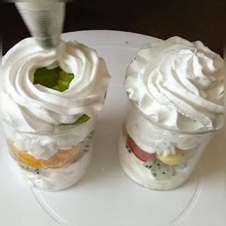 Fresh fruit dessert, fruit cream recipe, fruit cream salad, Street style fruit dessert