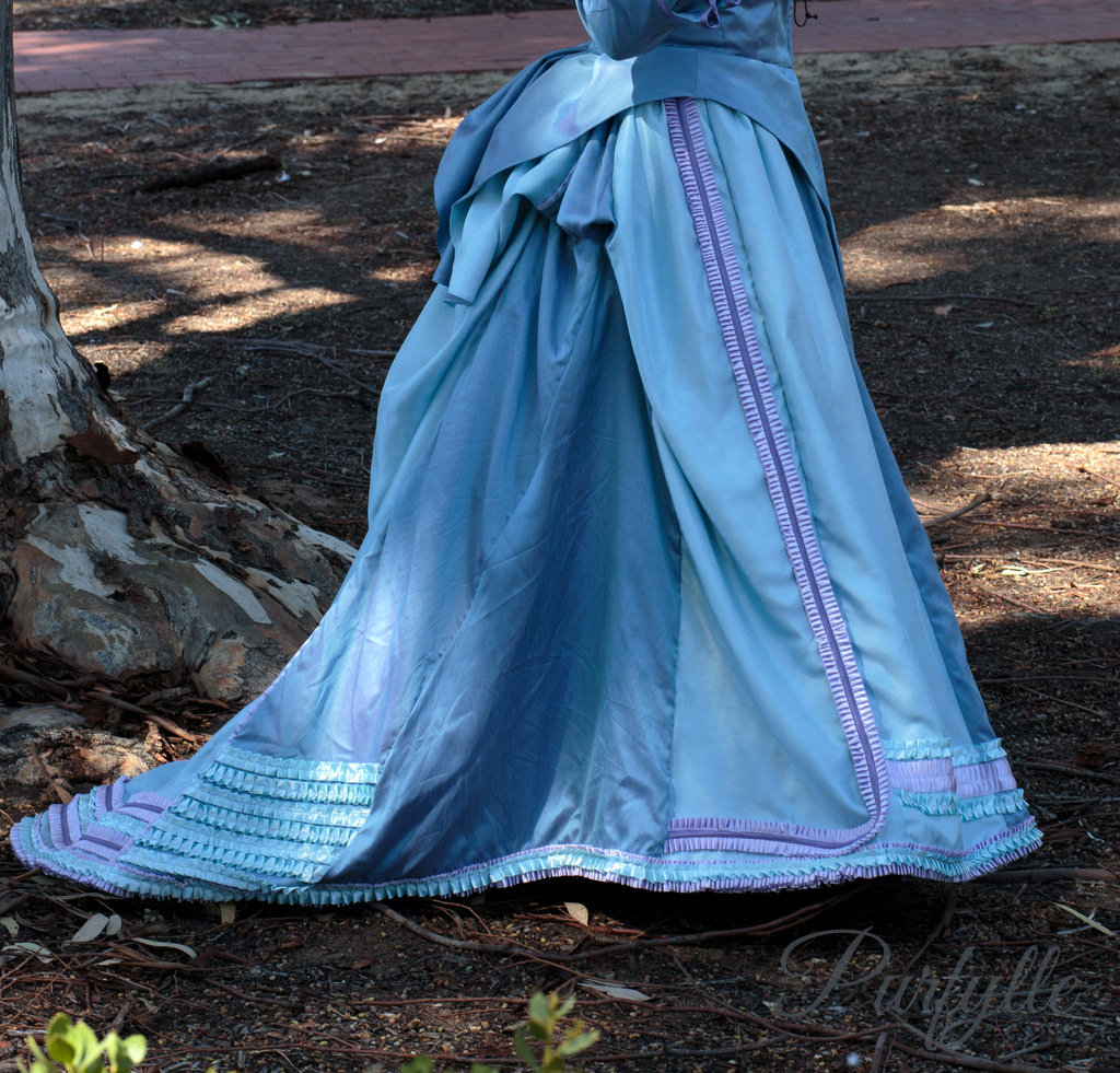 right side of skirt -1870 costume