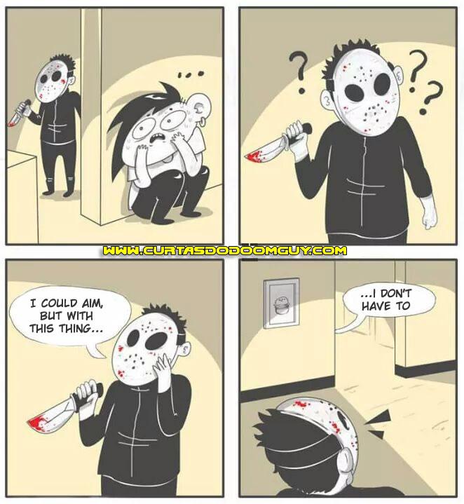 Quando o serial killer te baita