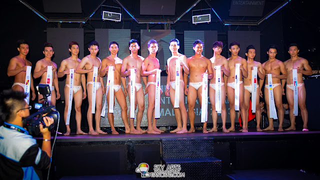 Mister International Malaysia 2013 finalists in their swim wear - YipunMan *Looks more like men's brief for me*