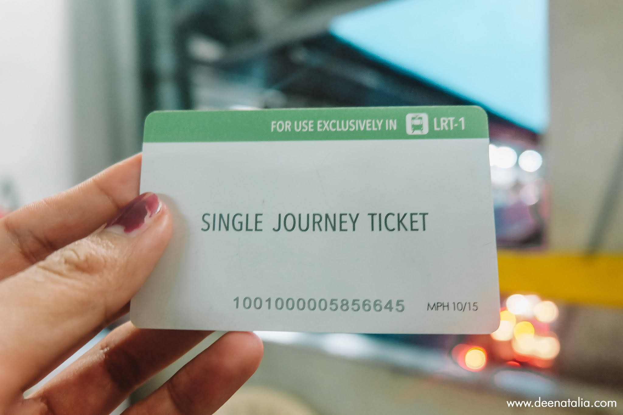 Tiket LRT Manila