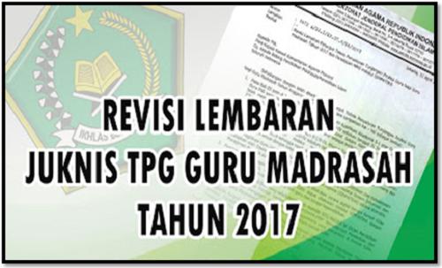 Revisi Juknis TPG Madrasah Dengan Format Word