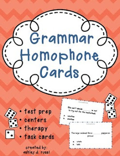 https://www.teacherspayteachers.com/Product/Grammar-Homophones-Game-Cards-1538070