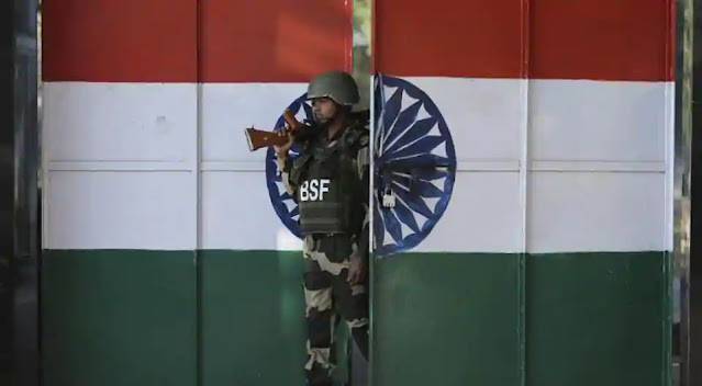 Indian BSF soldier at border