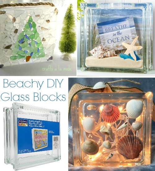 similar to beach diorama boxes you can let your imagination run free with these glass blocks glass blocks for crafting can be purchased at your local