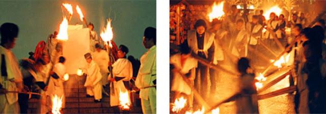 Shinki-sai (Taimatsu Matsuri - Fire Festival) at Kameido Tenjin Shrine, Koto-ku, Tokyo
