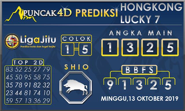 PREDIKSI TOGEL HONGKONG LUCKY7 PUNCAK4D 13 OKTOBER 2019