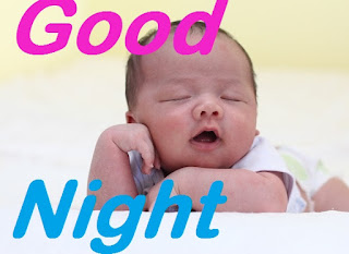 good night images with cute sleeping baby
