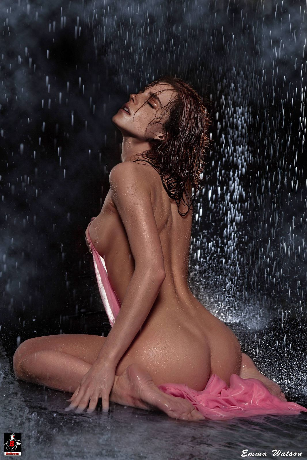 Emma Watson Nude in the Rain