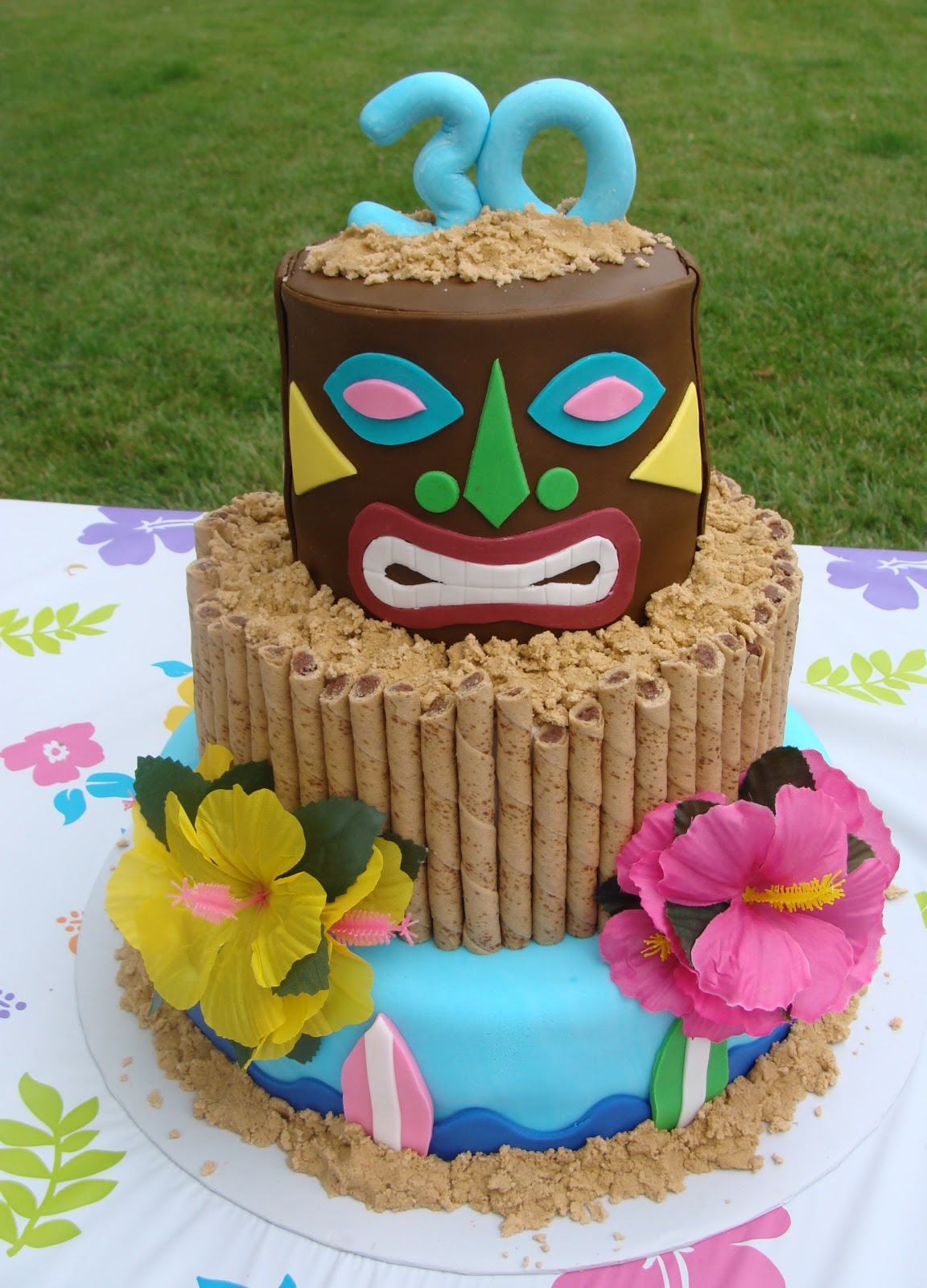 Sweet Treats By Bonnie Tiki Head Luau Cake