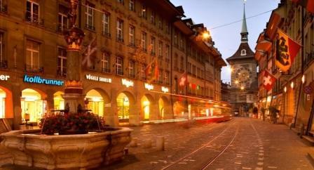 Tempat Wisata Paling Indah Untuk Dikunjungi Di Negara Swiss Kota Tua Barat / Bern Old Town.