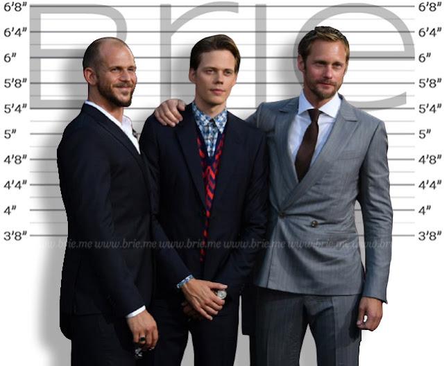 Alexander Skarsgård height comparison with Bill and Gustaf Skarsgård