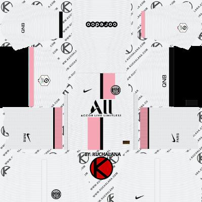 Paris Saint-Germain PSG Nike Kits 2021/22 -  DLS2019 Kits