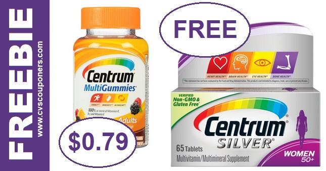 FREE Centrum Vitamins at CVS 10-13-10-19