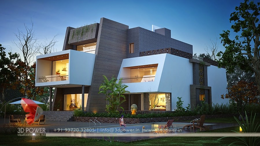 Ultra modern home designs home designs home exterior for Modern home front view design