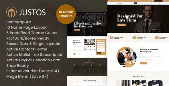 Best Attorney Lawyer HTML Template