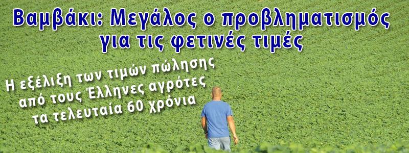 ΤΙΜΕΣ ΠΩΩΛΗΣΗΣ ΣΤΟ ΒΑΜΒΑΚΙ