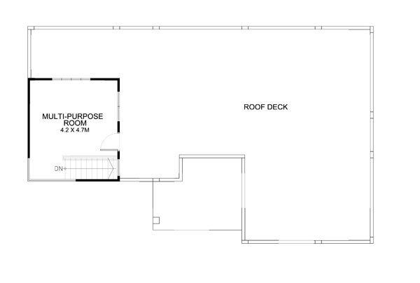 Thoughtskoto for House floor plan with roof deck