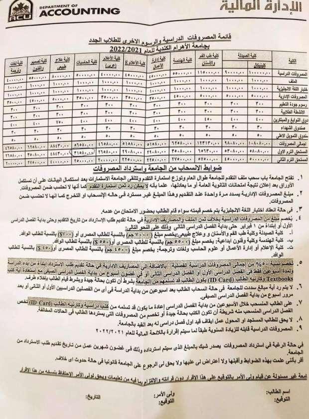 اسعار الجامعات الخاصة 2021 / 2022 |  أرخص 6 كليات في الجامعات الخاصة 10