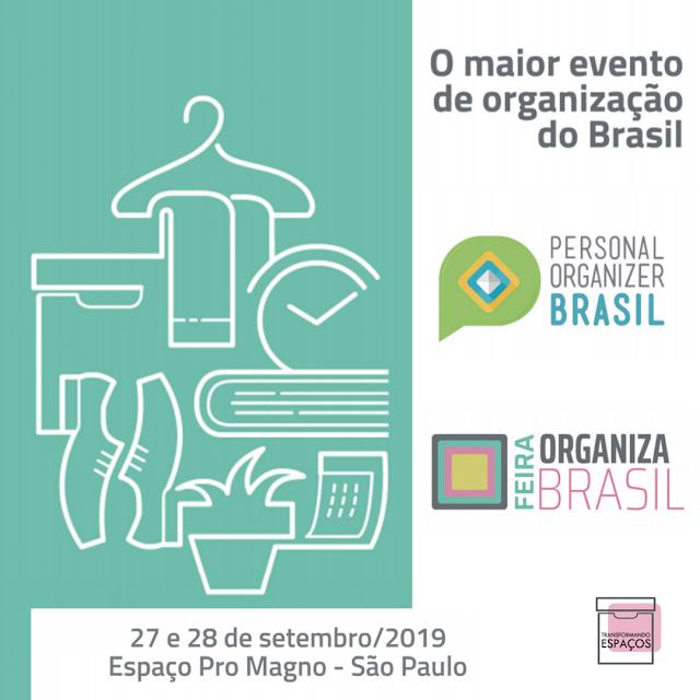 Tudo sobre a 6ª Conferência Personal Organizer Brasil e a Feira Organiza Brasil