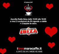 Logo ''I Love Mara Caffè'' vinci gratis 2 confezioni da 50 capsule o cialde e tazzine