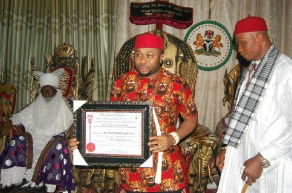 olakunle churchill igbo chieftaincy title