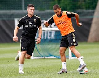 El equipo de Zidane trabajo en doble sesion en el tercer dia de entrenamientos