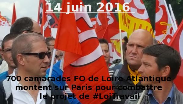 #LoiTravail : Succès de la Manifestation Nationale du 14 juin