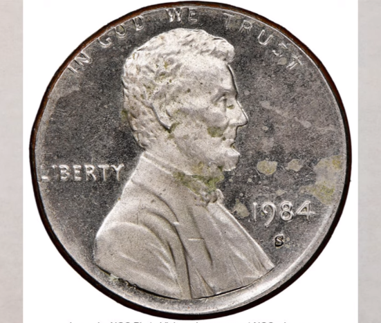 1984 d double die penny value
