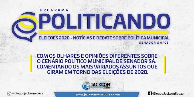 Blog do Jackson Souza lança o programa POLITICANDO que deve começar em Julho e trará um olhar político diferenciado.