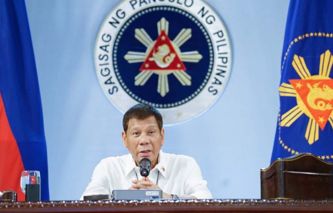 President Rodrigo Duterte talks to the people