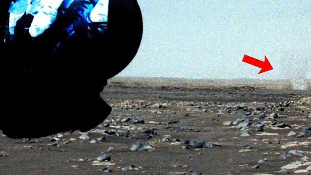 redemoinho em Marte registrado pela sonda Perseverance