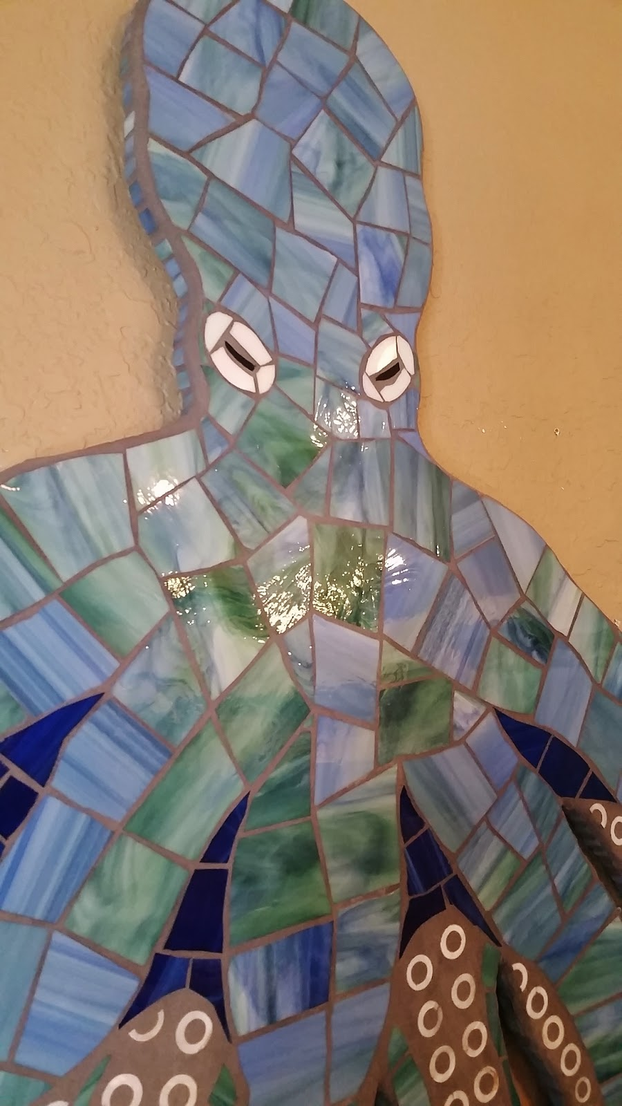 Octopus, Seahorse and Sea Turtle Wall Art, Stained Glass ...