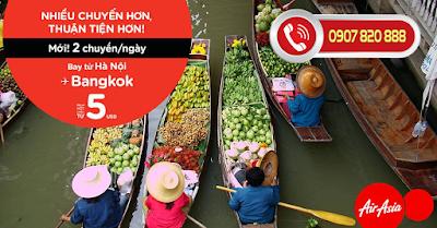 VI VU TỪ HÀ NỘI ĐẾN BANGKOK, chỉ từ 5 USD