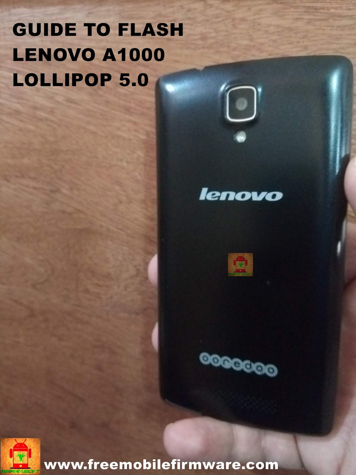 Flash Lenovo A1000 Android Lollipop 5 0 Using SPD Flashtool