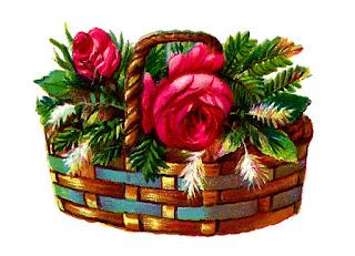 flower rose christmas basket image